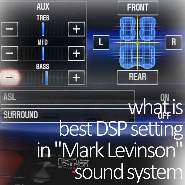 マークレビンソン音質設定画面イメージ