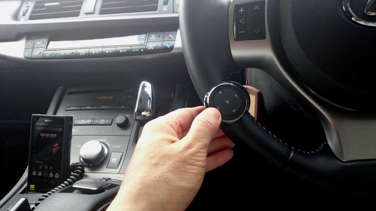 サテチBluetoothメディアボタン設置例