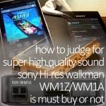 超高音質ハイレゾウォークマンWM1Aは買い?状況別おすすめ判断方法