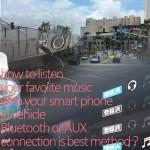 なぜBluetoothとAUXが最強なのか?スマホの音楽を車で聴く5つの方法