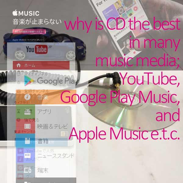 YouTube、CD等の音楽メディアのイメージ